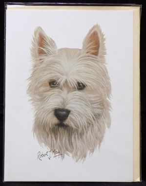 Blank Card with Envelope by Robert May - West Highland Terrier (Westie) (CON-RGC43)