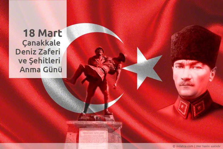 18 Mart Çanakkale Deniz Zaferimizin 101. yılında Ulu Önder Mustafa Kemal Atatürk'ü ve Şehitlerimizi saygıyla anıyoruz.