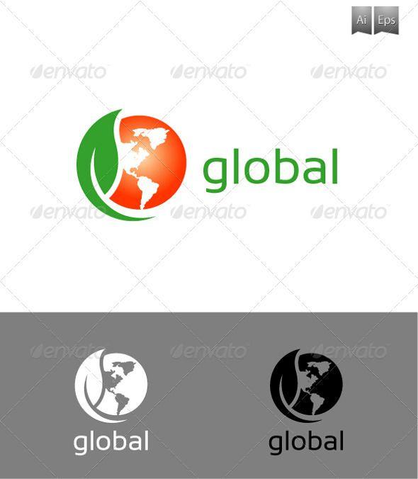 Booklogo Design: Global Logo #GraphicRiver Logo Used A Clean & Elegant