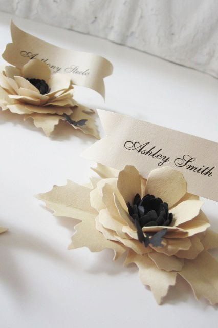 Handmade place cards make guests feel the love.