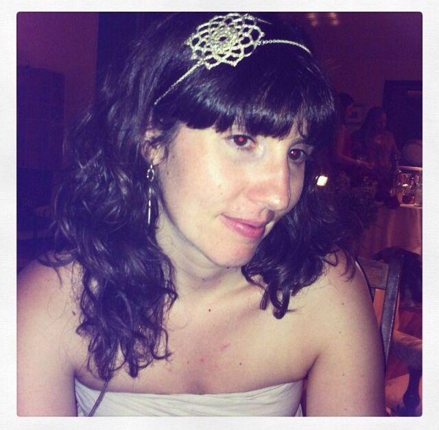 Beatriz Hernandez llevando nuestra diadema Sixtina #yolynjewels
