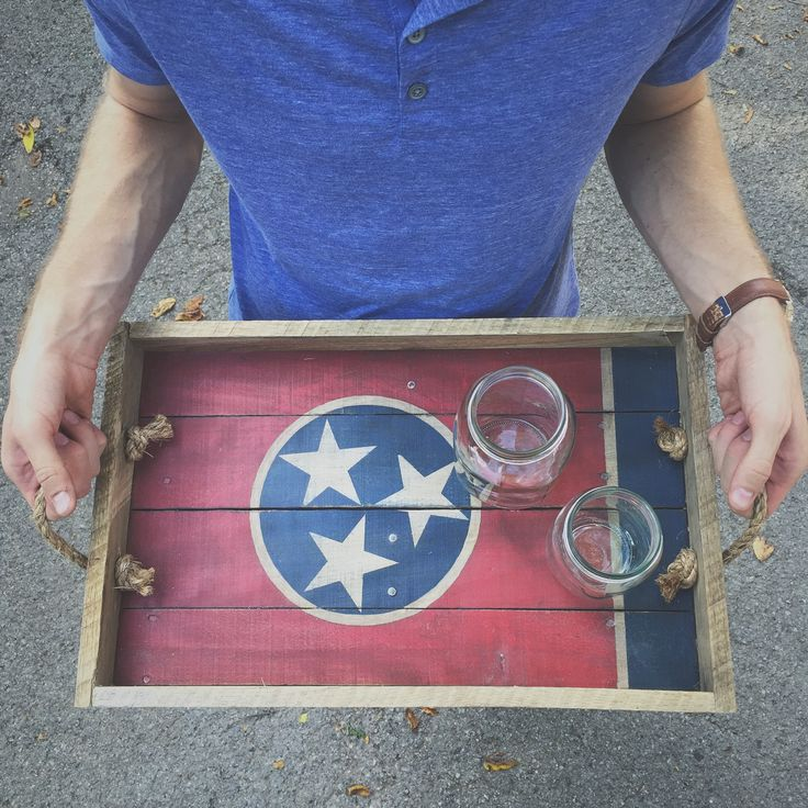 Tennessee Flag Serving Tray - Shop615