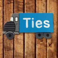 Naambord kinderkamer vrachtwagen/vrachtauto voor een stoere jongenskamer