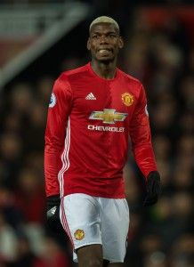 Manchester United's Paul Pogba reacts during the English Premier League soccer match between Manchester United and Hull City held at Old Trafford, Liverpool, Britain,  01 February 2017.  EPA/PETER POWELL EDITORIAL USE ONLY. No use with unauthorized audio, video, data, fixture lists, club/league logos or 'live' services. Online in-match use limited to 75 images, no video emulation. No use in betting, games or single club/league/player publications