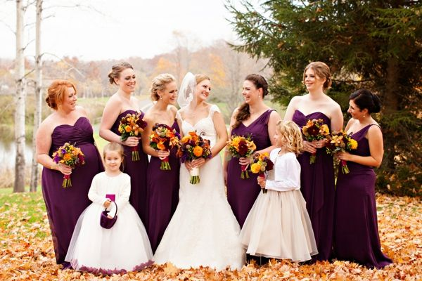 Purple and Orange New England Fall Wedding Ideas | Heart Love Weddings