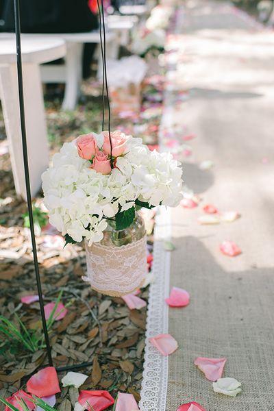 Pink Barn Wedding by Julie Paisley - Southern Weddings
