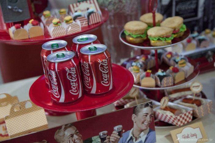 Lanchonete vintage com Coca Cola