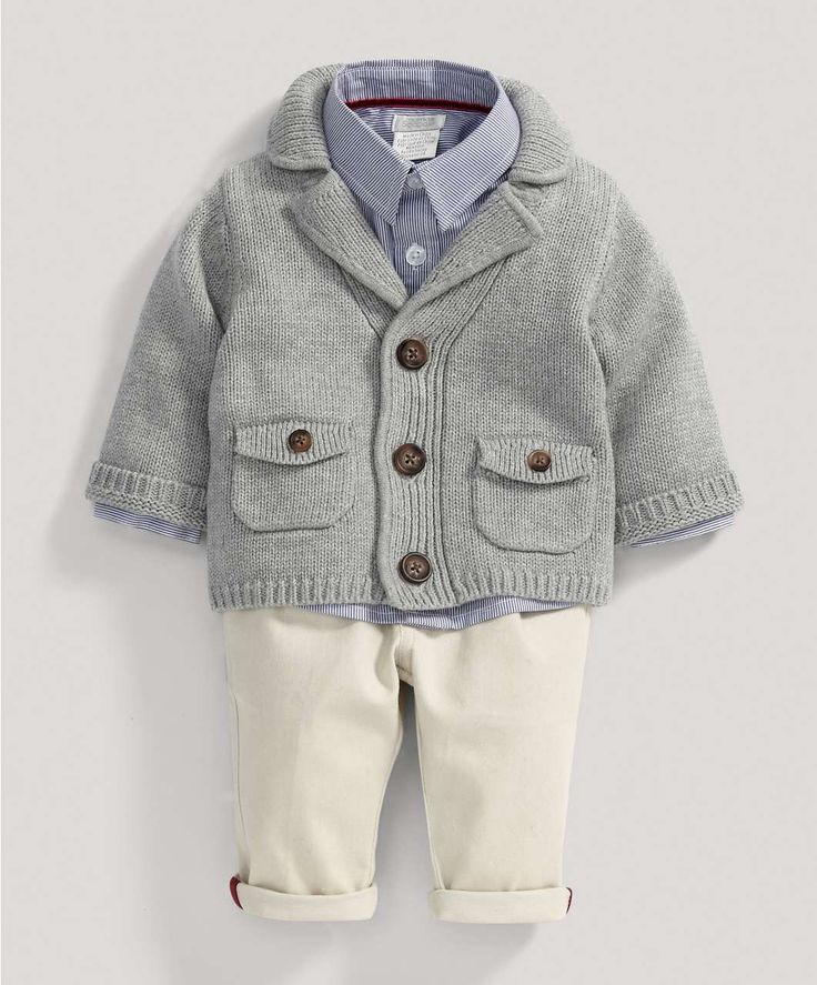 Boys Welcome to the World Three Piece Cardi Set - Special Occasion/Christening - Mamas & Papas