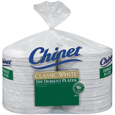 Chinet - Classic White Dessert Plates - 300 ct. (we got them from Smart and Final, just because they were cheaper)