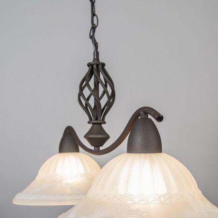 Lampa wisząca Elegant 2 rdzawa