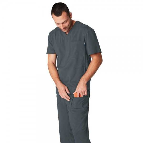 Koi Lite Endurance Trousers in Charcoal. The Endurance trousers are made from lightweight, moisture-wicking, athletic style material that is designed to keep you cool and dry throughout the day. Endurance consists of super soft but durable fabric that is also easy wash and care. £29.99 #menscrub #dentistscrub #nursescrubs #greyscrub
