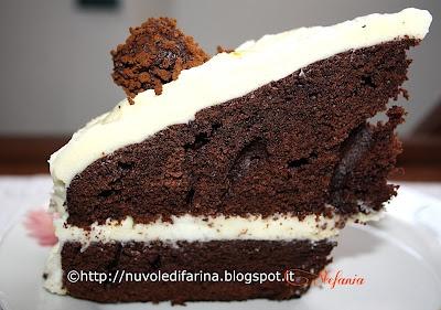 Torta moka con crema al cioccolato bianco e tartufini al caffè
