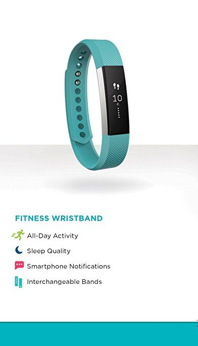 Amazon.com: Fitbit Alta Fitness Tracker, Silver/Teal, Small (US Version): Health & Personal Care