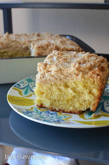 Meyer Lemon Coffee Cake from Lovin' form the Oven featuring Chinet ...