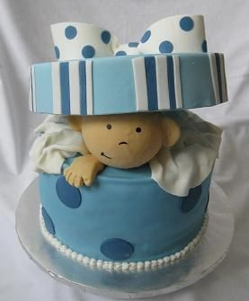 Baby Boy Shower - haha i know this would be hard to make, but its so cute it made me laugh!