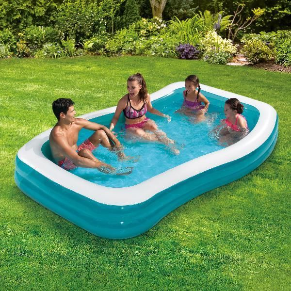 Backyard Inflatable Swimming Pool 10 Family Lounge Plastic Garden