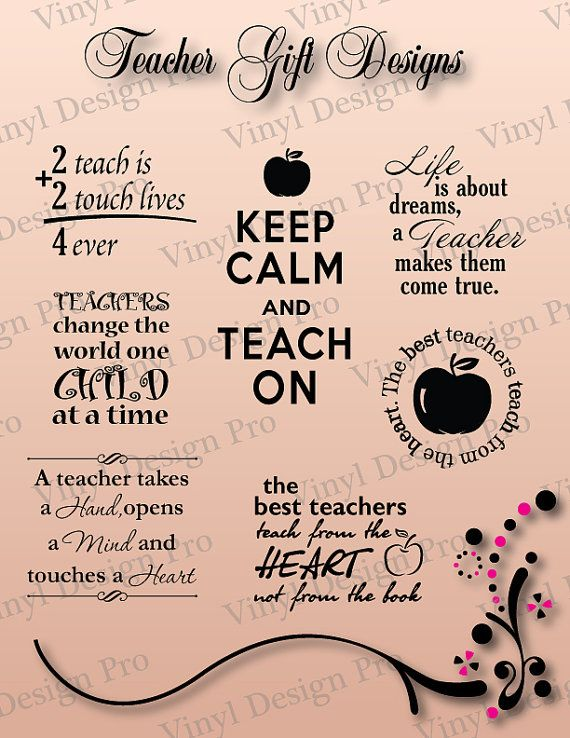 Teacher Gift Designs Vector Art Vinyl Ready by VinylDesignPro, $4.99