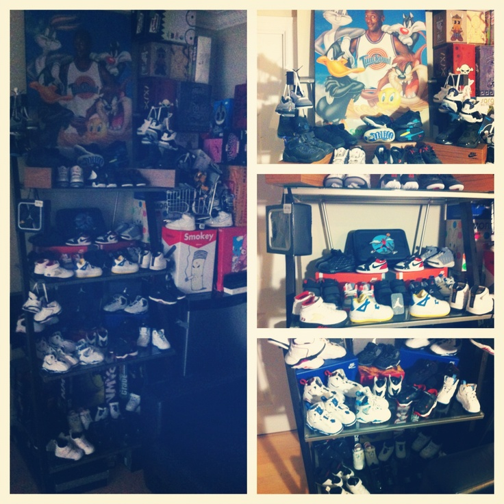 Wall of Baby Jordan shoes --- Need this in my baby's life !!