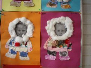 Eskimo maken van jezelf.  knutselen platte vlak