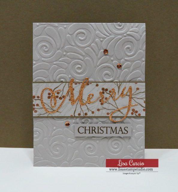 Video-Tutorial für DIY Easy Frohe Weihnachten an alle Kartendesign. Stampin 'Up! Lis …   – LINDA
