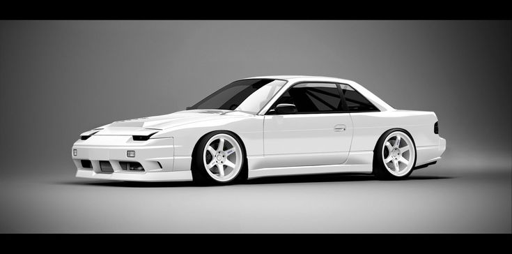 Nissan 240SX Coupe Artwork. I think I like the JDM 180SX Type X Front Bumper on the Coupe.