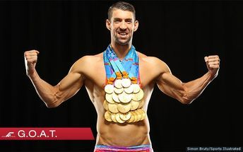 Michael Phelps Poses With All 23 Gold Medals For First Time On His 12th Sports Illustrated Cover