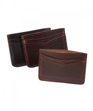 Horween Horsehide Card Case Wallet # 16 Our #Horween® #Horsehide wallets are thicker than your average wallet, but they will flatten and soften nicely with use. The rich patina that Horween® Horsehide develops is like no other #leather. You will feel the quality every day you put the wallet in your hands.