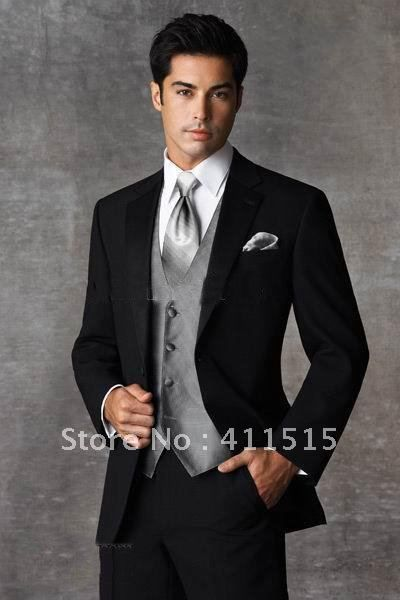 black and silver tux groom - yes! | BRIDAL: A Groom To Be ...