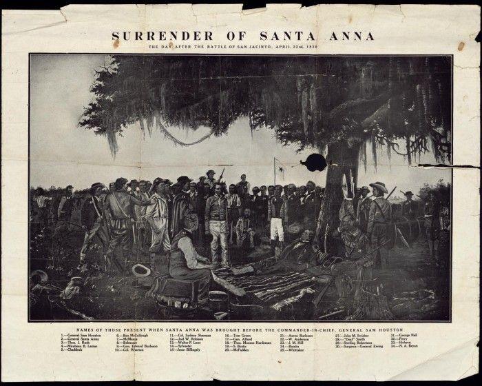 Surrender of Santa Anna to Sam Houston