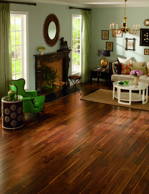 Quickstep rustic pacific walnut laminate flooring 8 mm for Quickstep kitchen flooring