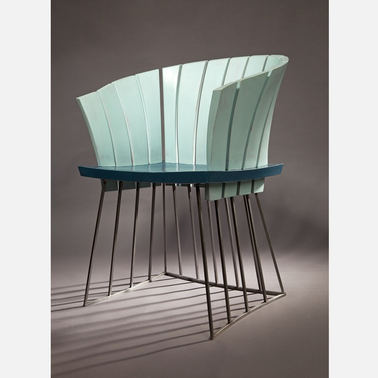 Nautilus Chair In Steel And Painted Poplar By David Rasmussen Design.