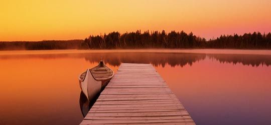 Algonquin Park, North Canoe at dock