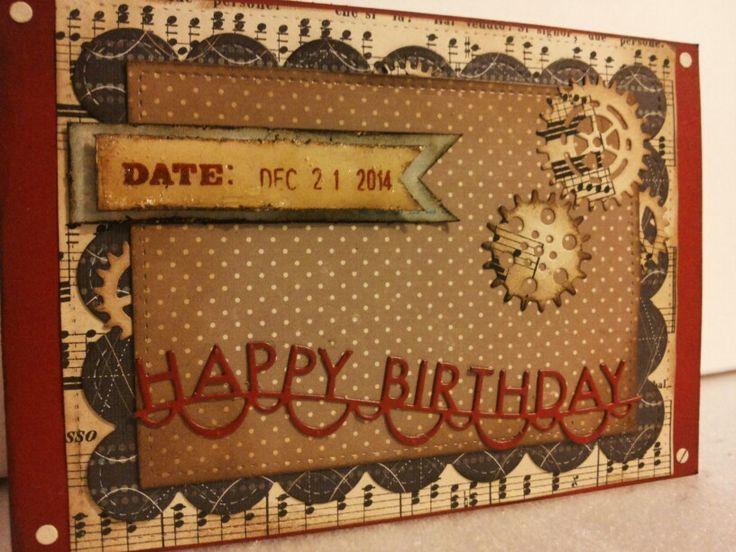 Christmas-birthday card, by ricciocraft.