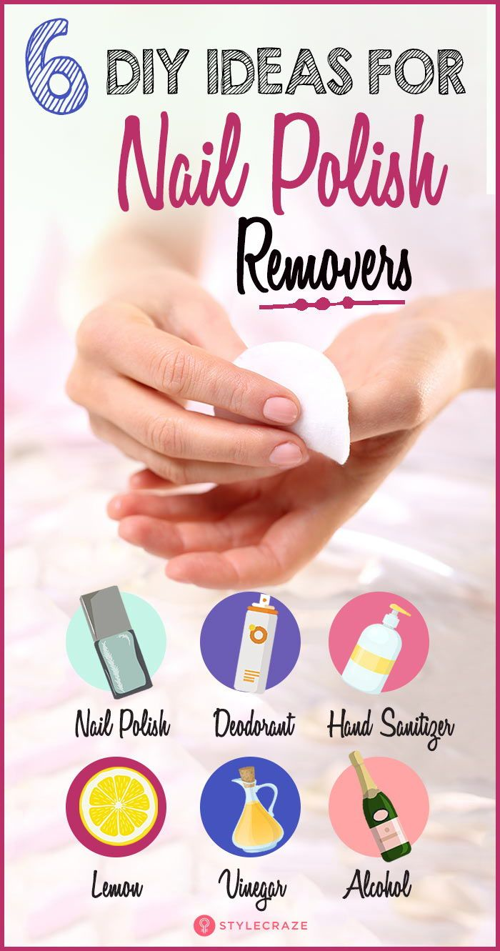 6 Brilliant Diy Ideas For Nail Polish Removers Homemade Nail