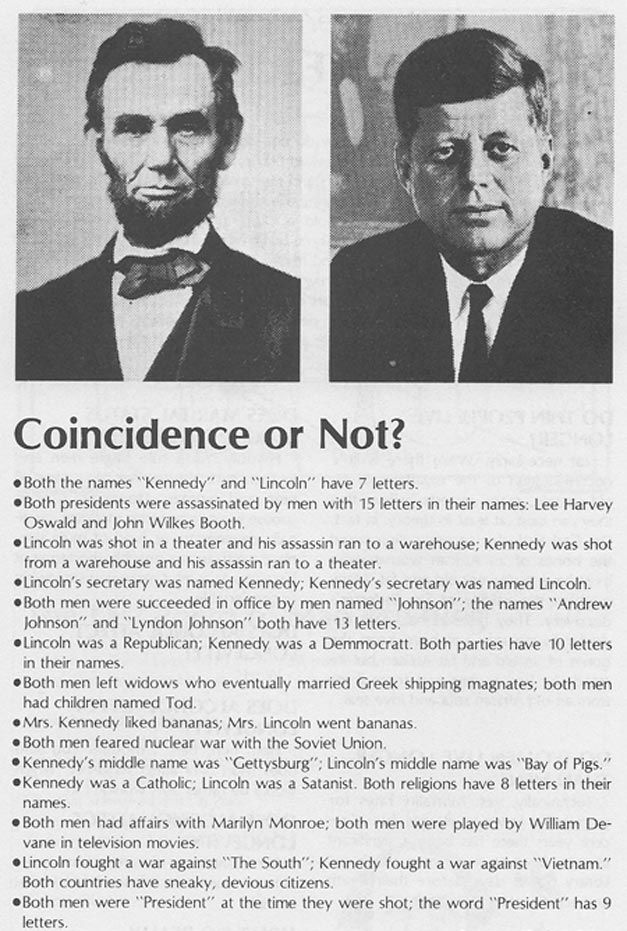 lincoln & kennedy coincidences