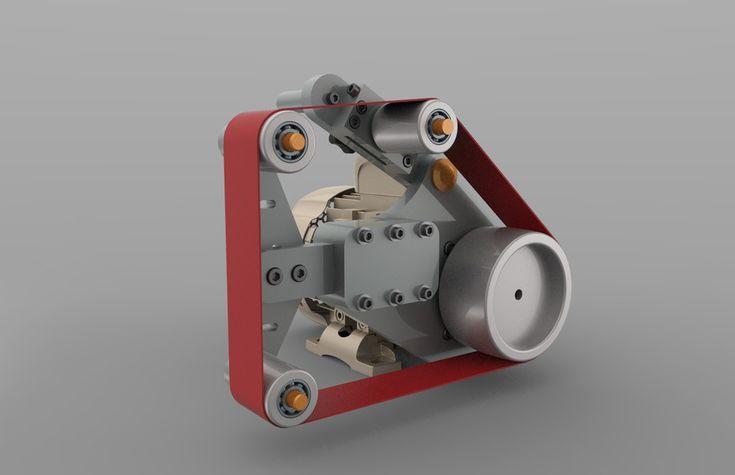 small belt grinder - STEP / IGES - 3D CAD model - GrabCAD