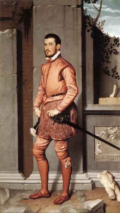 The Gentleman in Pink by Giovanni Battista Moroni, 1560 Italy, Palazzo Moroni, Bergamo