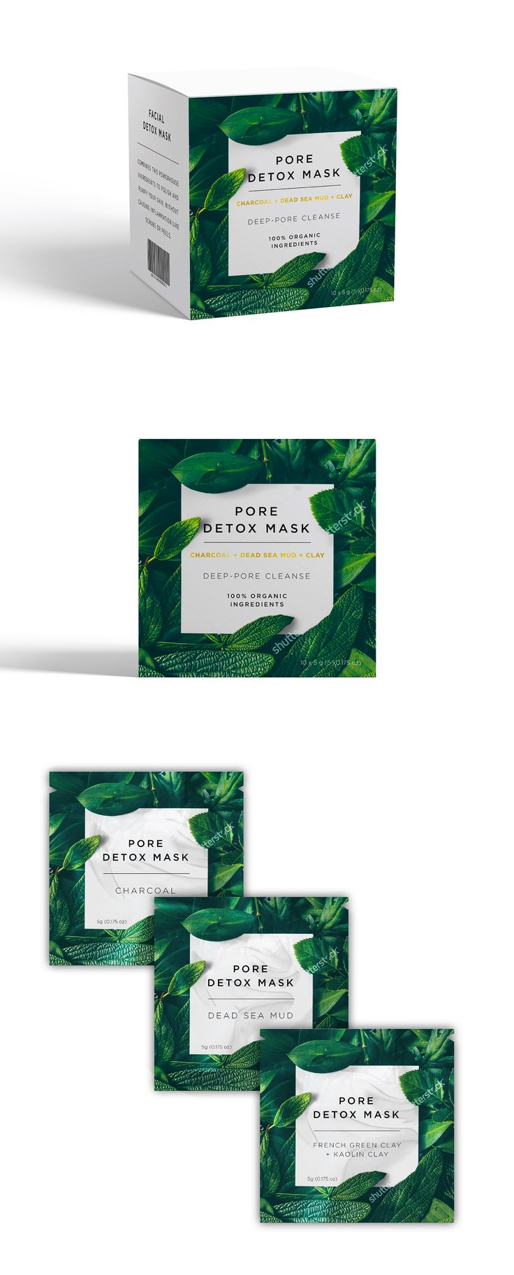 Designs   Design package for Facial detox mask   Product packaging contest