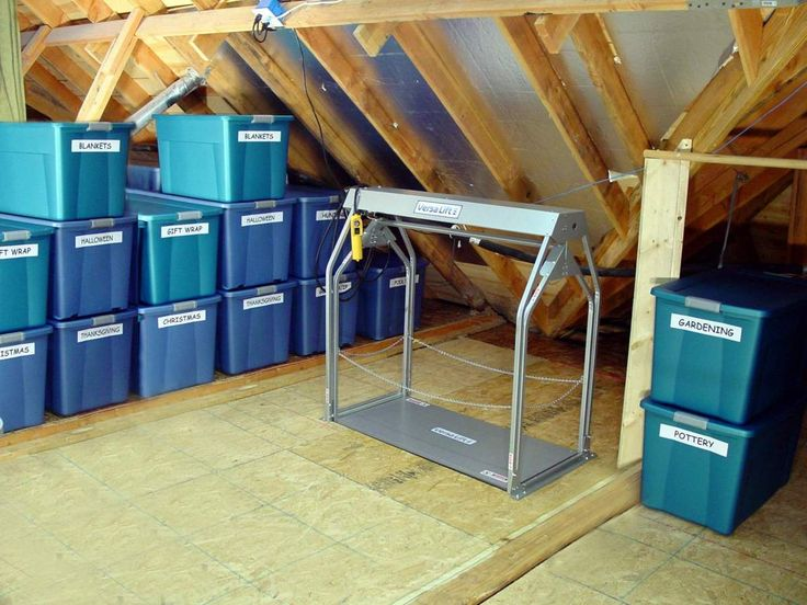 Versalift To Lift Totes And Boxes To The Attic Https