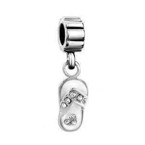 Pugster Swarovski Crystal White Beach Sandal Dangle Beads Fit Pandora Charms Bracelet: Pugster: Amazon.ca: Everything Else