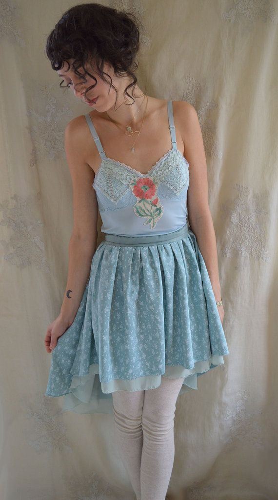 Peony Slip Dress... Size S/M... boho whimsical fairy high low formal bridesmaid by Jada Dreaming