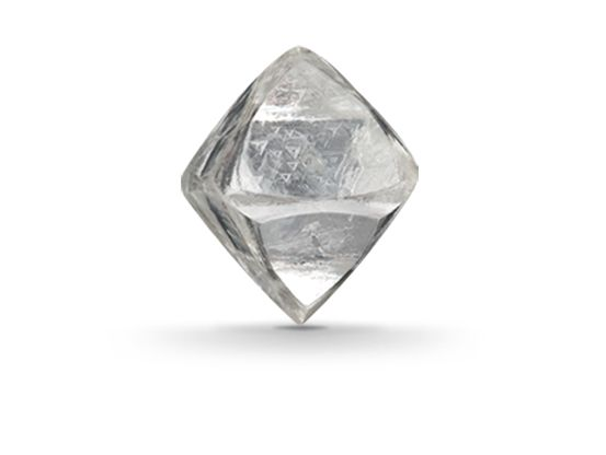 Diamond forms under high temperature and pressure conditions that exist only about 100 miles beneath the earth's surface. GIA (091313)