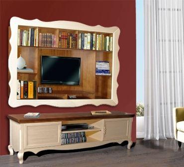 Casa Ampia-Unit Dafni patina- έπιπλο tv - καθιστικό-διακόσμηση σαλονιού-ξύλο Οξιά