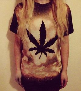 vintage cannabis | Cannabis Weed T-shirt Tie Dye Bleached Oversized Grunge Vintage 90s ...