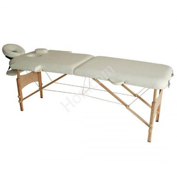 Práctica camilla de masaje de espuma de 4cm de espesor. Puedes ajustar la altura según tus necesidades. El cabezal se puede acercar o separar y además es extraible. Ideal para fisioterapeutas profesionales, estudiantes, centros de estética, masajes e incluso estudios de tatuajes. Soporta hasta 250kg de peso. Medidas: 182x60x61-87cm. Puedes comprarla online en whttps://www.aosom.es/homcom-camilla-de-masaje-crema-pu-madera-182x60x61-87cm.html con envíos gratis a España y Portugal en 24h/48h.