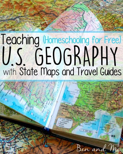 I love teaching U. S. Geography. We have travel kits and maps from most states in  large storage box. Each state is given their own file folder where all of the travel guides and maps are kept. We use these to help us plan fun field trips when we are traveling, and when we are learning about a particular state in our homeschool.