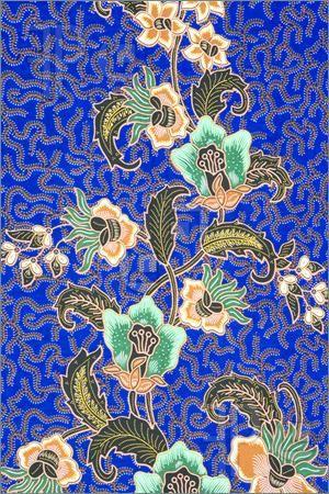 Indonesian batik sarong pattern.