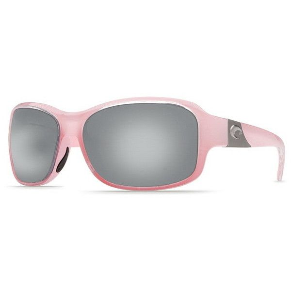Costa Del Mar Inlet Polarized IT 44 OSCP Sunglasses (€155) ❤ liked on Polyvore featuring accessories, eyewear, sunglasses, coral pink, costa glasses, lens glasses, pink sunglasses, pink lens sunglasses and costa eyewear