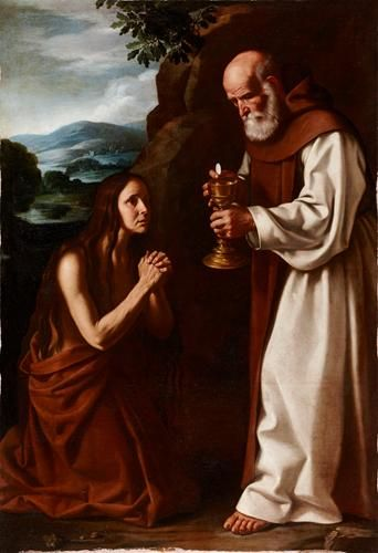"Pedro de Orrente (Murcia 1580 - Valencia 1645) ,""The Last Communion of Saint Mary of Egypt"""