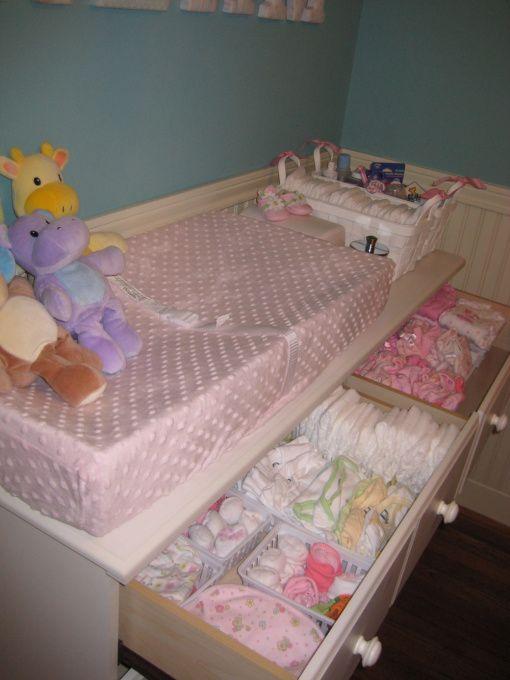 baby dresser organized! Love this organization